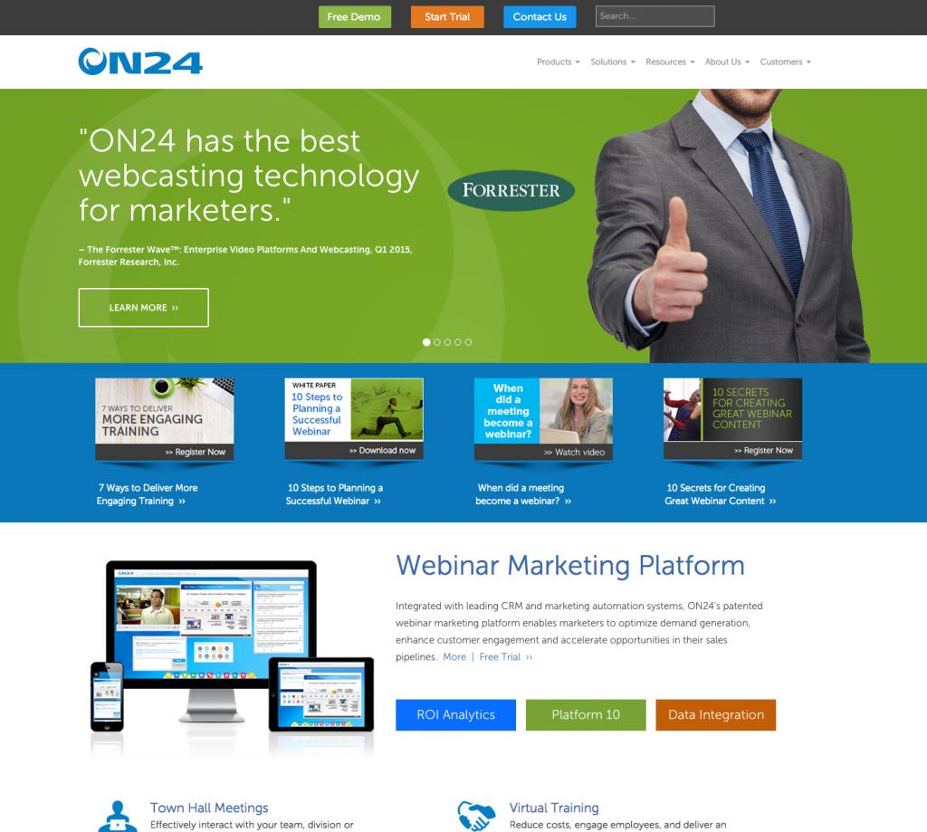 custom enterprise level responsive web site